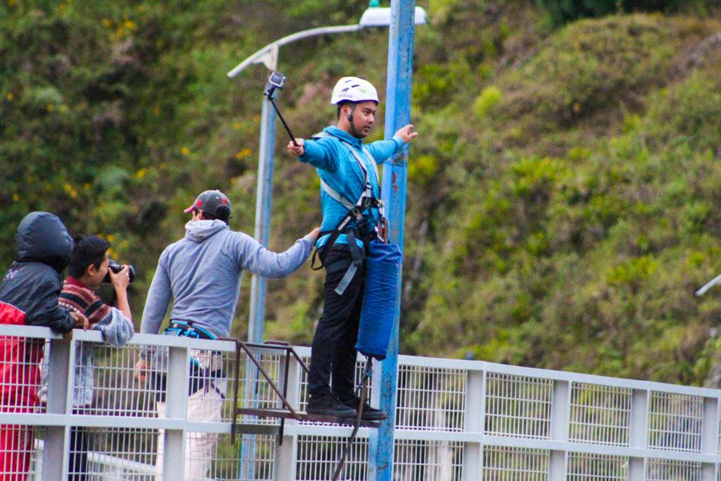 Banos Ecuador bungee jumping