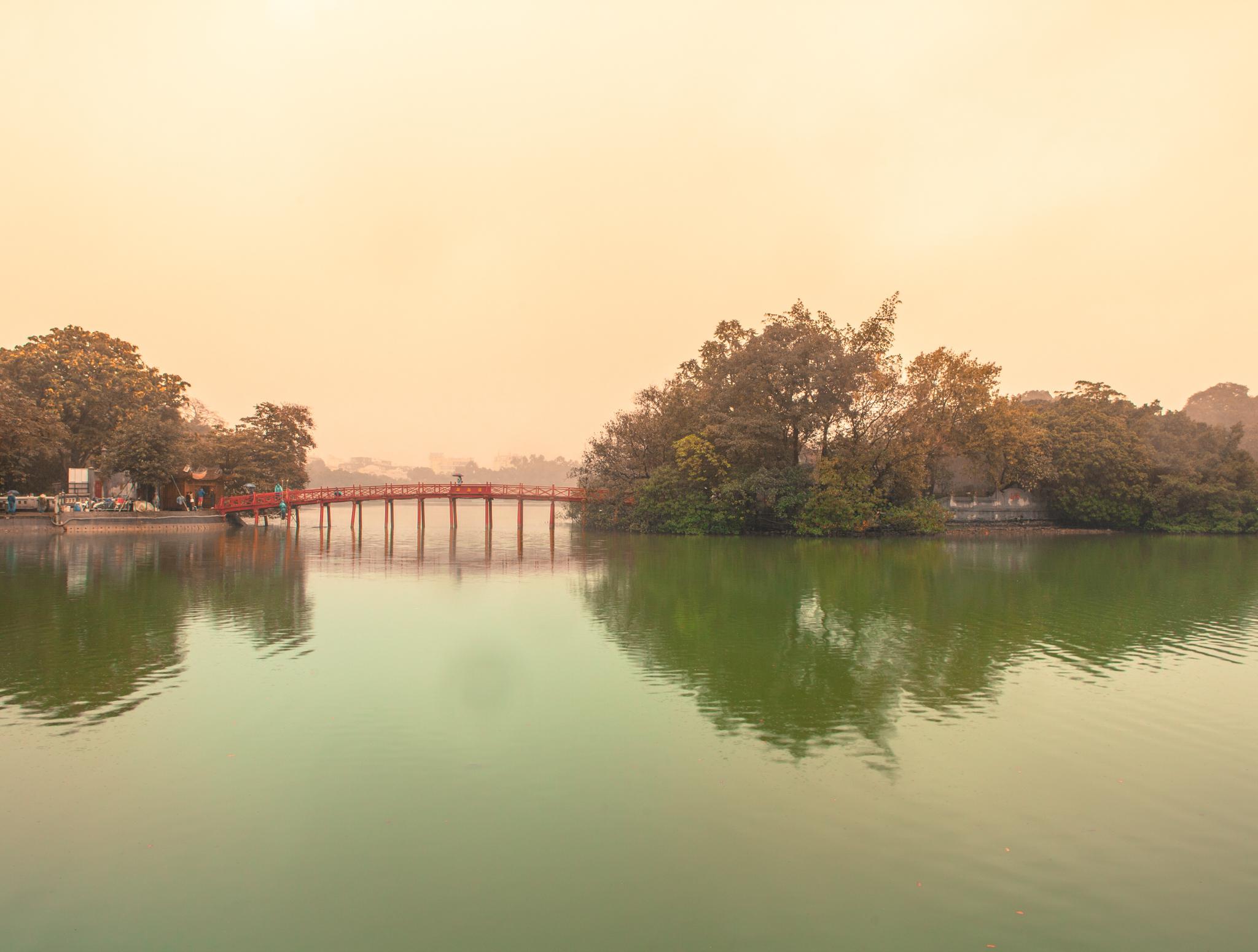 Vietnam Hanoi red bridge landscape photography