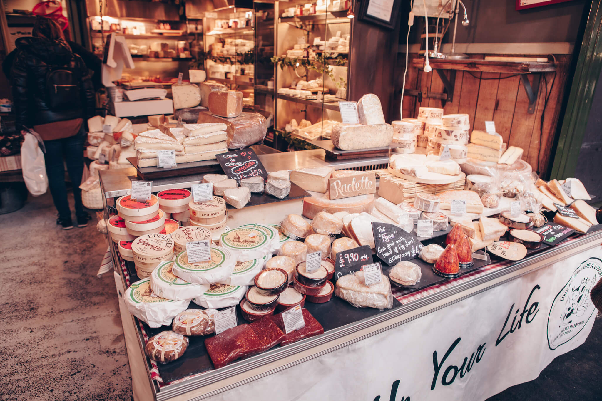London Borough Markets cheese selection