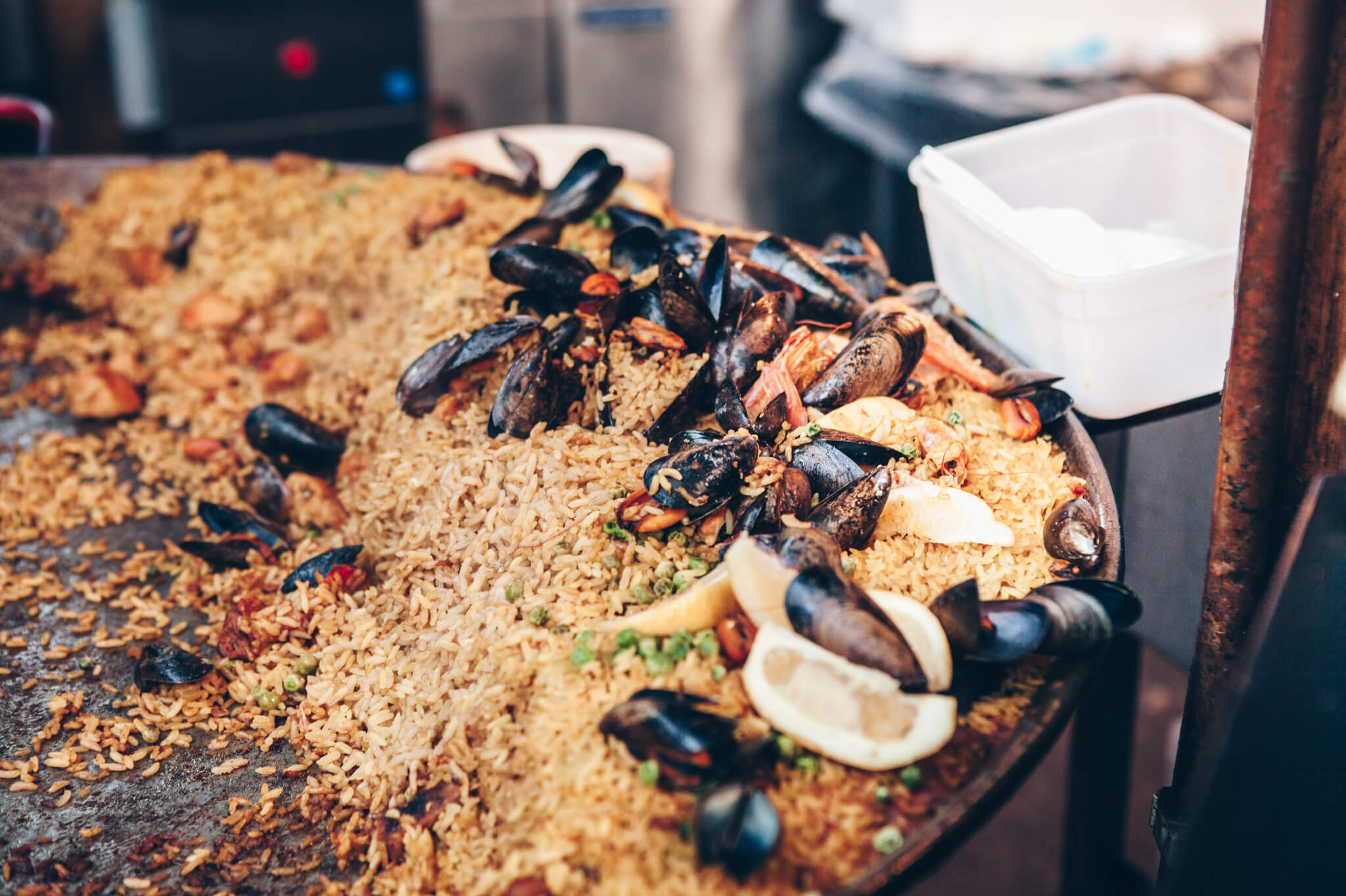 London market seafood paella