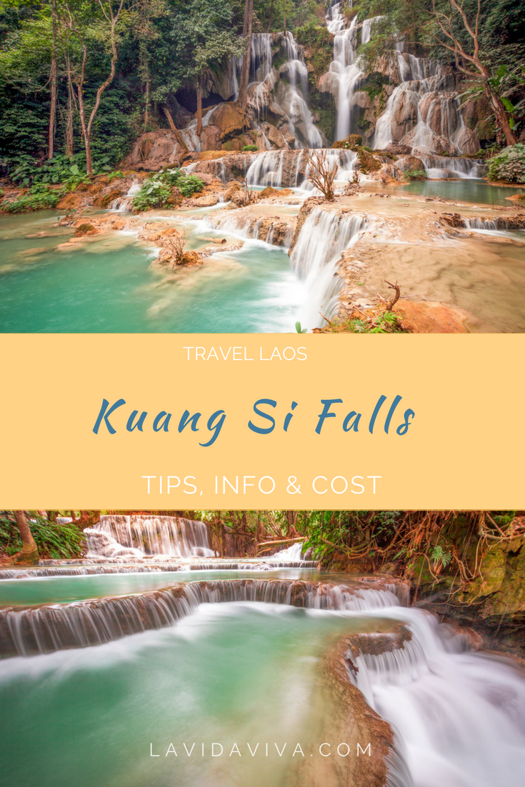 Kuang Si Falls is the absolute highlight of Luang Prabang. Nestled in a jungle with cascades flowing from the top of a mountain, it's a nature lover's and photographer's paradise. Here is everything you need to plan your visit.