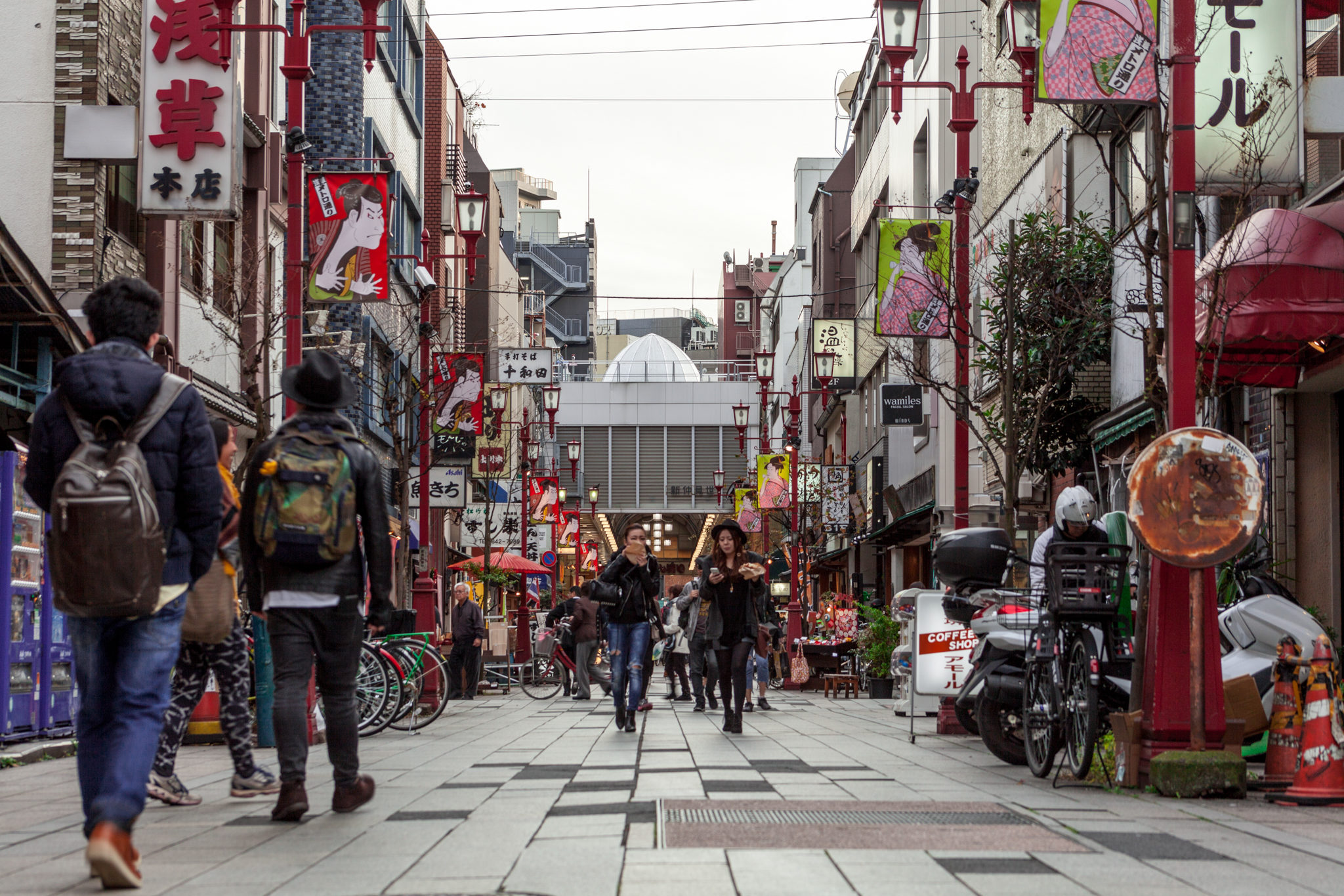 people walking in Japan streets