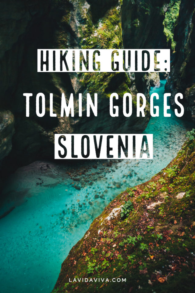 Hiking guide for Tolmin Gorges in Slovenia